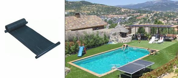 Captador solar de caucho heliotek la web de la - Calentar piscina solar ...