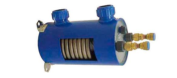 Intercambiador de calor para piscinas con serpentín de Titanio