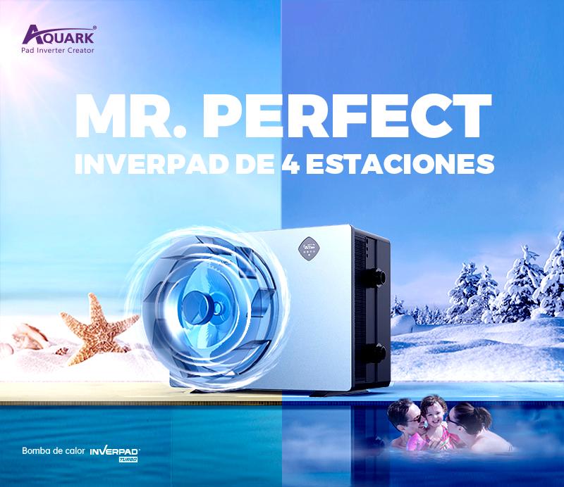 cartel presentación bomba de calor Mr. Perfect de Aquark